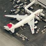 JAL 747 - Yokoso Japan colors (Birds Eye)