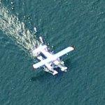 Seaplane taking off (Birds Eye)
