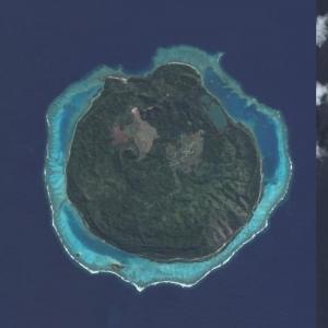 Mel Gibson's private island (Bing Maps)