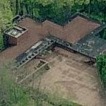 'Schultz House' by Frank Lloyd Wright (Birds Eye)