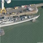 Destroyer HMS Manchester (D95) (Birds Eye)