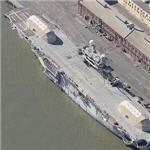 Former USS Tripoli at Mare Island Shipyard (Birds Eye)