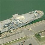 Former USS Tripoli (LPH-10) now a Mobile Launch Platform (MLP) (Birds Eye)