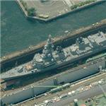 JDF Onami (DD-111) Takanami class destroyer in drydock (Birds Eye)