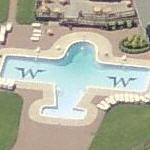 Airplane shaped pool (Birds Eye)