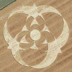 Alien crop circle (Bing Maps)