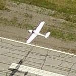 Small plane taking off from Ottawa International. (Birds Eye)