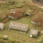Ile Saint Michel WWII battery (Birds Eye)
