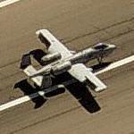 A-10 Thunderbolt II on runway (Birds Eye)