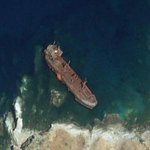 Shipwreck of the Semiramis (Bing Maps)