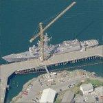 Oliver Hazard Perry-class frigate USS Halyburton (FFG 40) (Birds Eye)