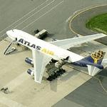 Atlas Air Boeing 747 at Dover Air Force Base (Birds Eye)