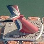 Carnival cruise ship 'Paradise' (Birds Eye)