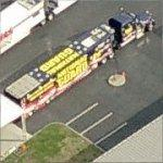 NASCAR 'National Guard' Hauler (Birds Eye)