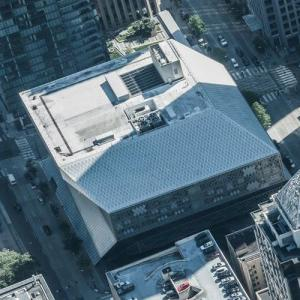 Seattle Public Library by Rem Koolhaas (Birds Eye)