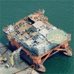Oil rig under construction (Birds Eye)