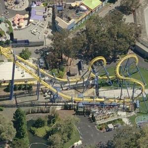 'Invertigo' Roller Coaster (malfunctioned 10 Aug 2009) (Birds Eye)