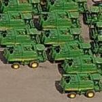 John Deere T670 combine harvesters (Birds Eye)