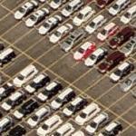 Cars at shipping terminal (lots of them) (Bing Maps)