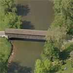 Hunsecker's Mill Covered Bridge (Birds Eye)