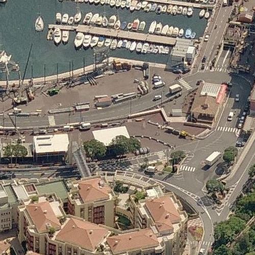 Monaco F1 Grand Prix Pit Lane (Birds Eye)
