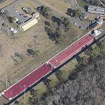 Barge and tug in a lock (Bing Maps)