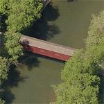 Pinetown Bushong's Mill Covered Bridge (Birds Eye)