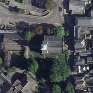 Burial place of Pocahontas, St. George's Church (Bing Maps)