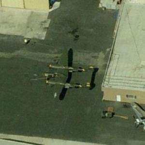 """""""23 Skidoo"""" P-38J Lightning at Chino (Birds Eye)"""