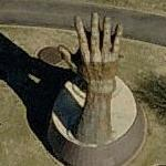 Giant praying hands (Bing Maps)
