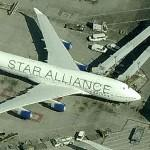 Boeing 747 in Star Alliance livery (United Airlines) (Birds Eye)