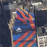 Giant Adidas ad (Birds Eye)