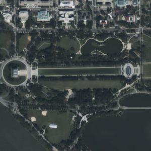 Lincoln Memorial, Reflecting Pool, Washington Monument (Bing Maps)