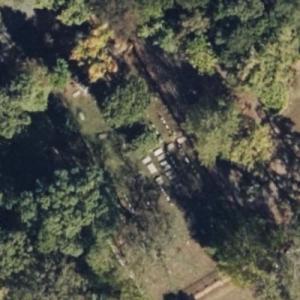 Monticello Cemetery, burial place of Thomas Jefferson (Birds Eye)